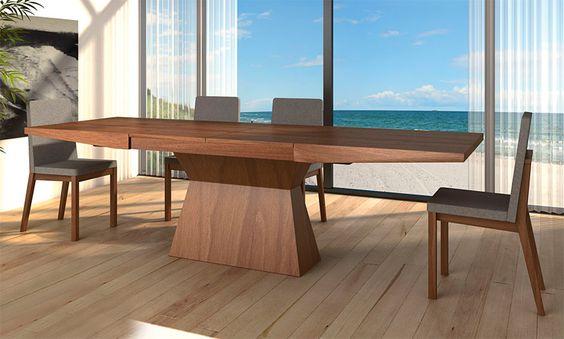 Resultado de imagen de mesas de comedor extensibles modernas | 長方 ...
