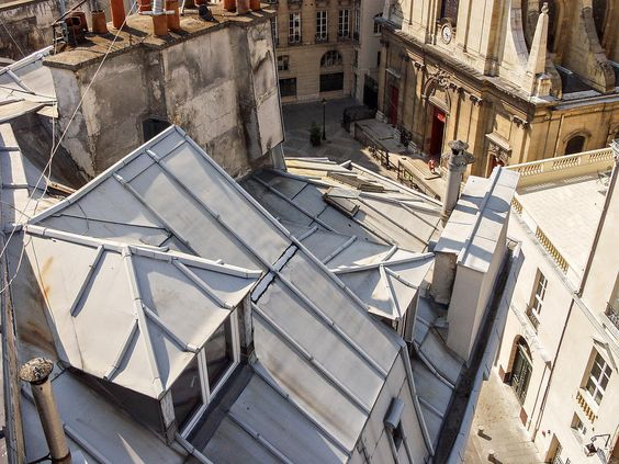 Les toits de zinc de Paris