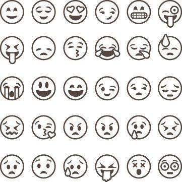 Image Result For Emoji Chart Black And White Preto E Branco Desenho De Emoji Aulas De Desenho Para Criancas