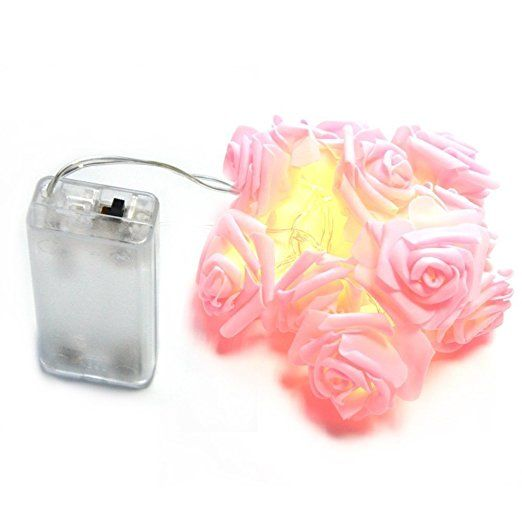 Amazon inst 10 led pink rose flower fairy lights home amazon inst 10 led pink rose flower fairy lights home improvement mightylinksfo
