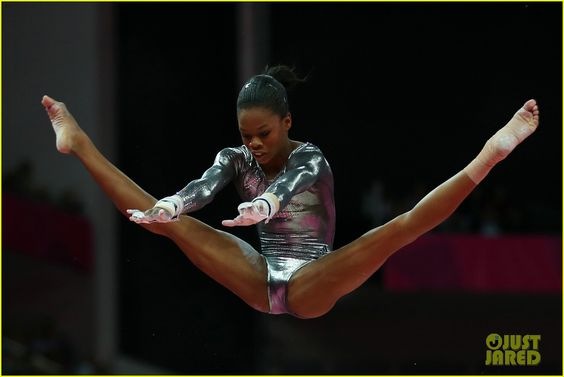 Gabby Douglas Competes in Uneven Bars Finals at Olympics