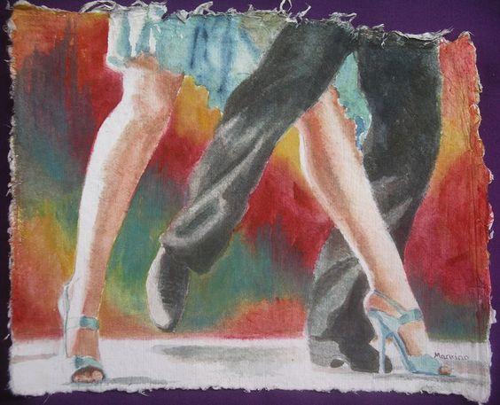 High Stepping, by Shirley Mancino, watercolour
