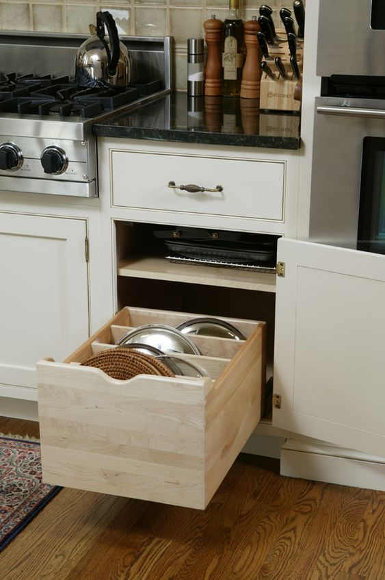 Looking for a place for pot lids?  Kent Kitchen Works in Kent, CT has you covered!