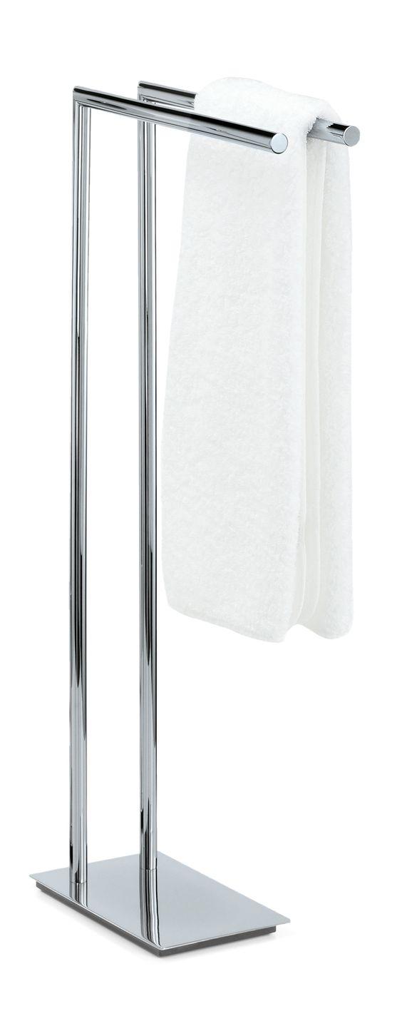 DWBA Standing Towel Rack Stand Bar Towel Holder 2-tier Double Bar ... - DWBA Standing Towel Rack Stand Bar Towel Holder 2-tier Double Bar Holder,  Chrome