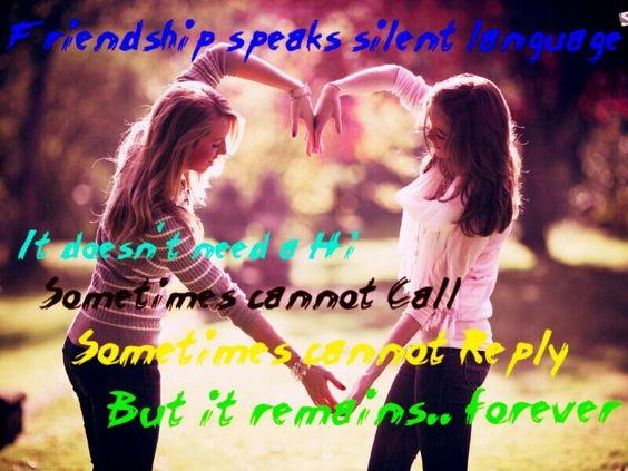 Frienship speaks | Friendship quotes | Pinterest | Friendship ...