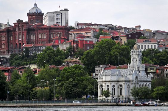 https://flic.kr/p/75YJdN | Istanbul University and St. Stephens Bulgarian Church | The church is made of cast iron.  It was manufactured in, I think, Germany/Austria during the Hapsburg Empire and floated down the Danube in large pieces, finally being assembled on site.