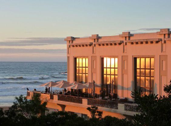 Casino Municipal de Biarritz au coucher du soleil