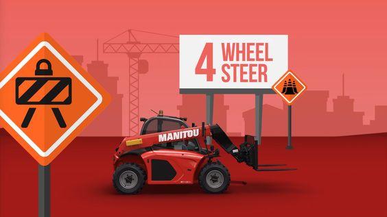 """Visuel extrait de l'animation 2D/3D """"MT 420 New Buggy"""" pour notre client MANITOU"""