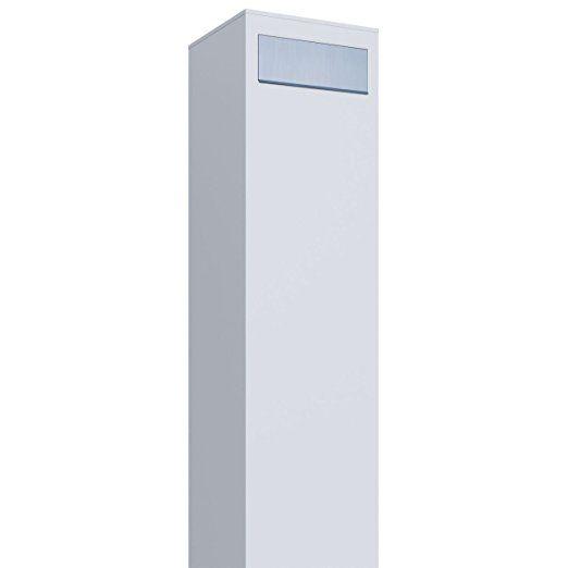 Bravios Briefkasten standbriefkasten design briefkasten monolith weiß edelstahl