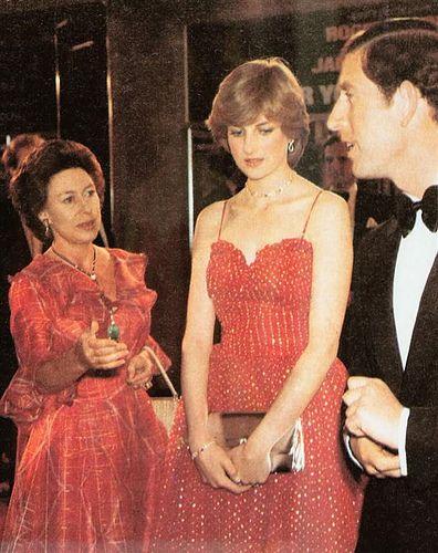 Princess Margaret, Lady Diana and Prince Charles