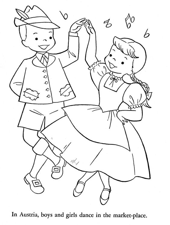 dancing girls coloring pages - photo#25