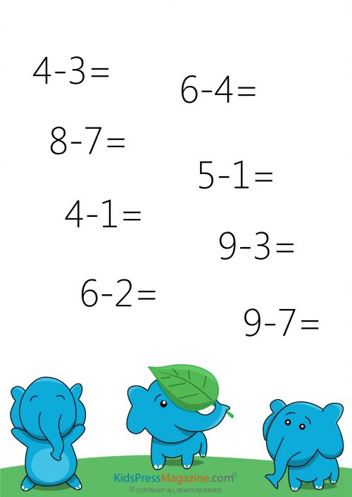 Easy Subtraction without Borrowing - #3   Math, Math worksheets ...