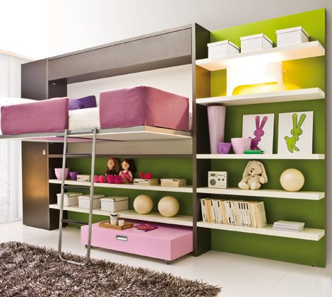 My dream furniture for the girls' rooms. This whole website has amazing convertible furniture.