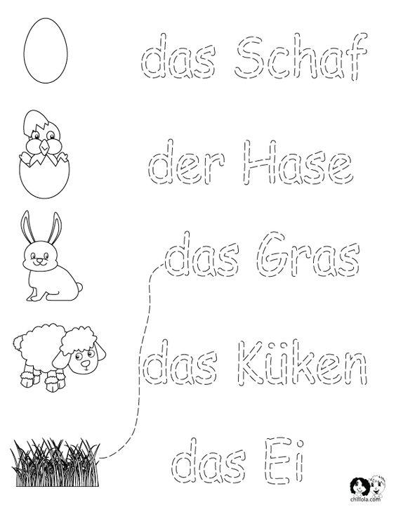 german worksheets for kids spring printout german german activities for children deutsch. Black Bedroom Furniture Sets. Home Design Ideas