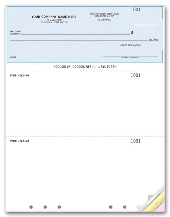 Laser Printer Direct Deposit Advice Slip Item Number