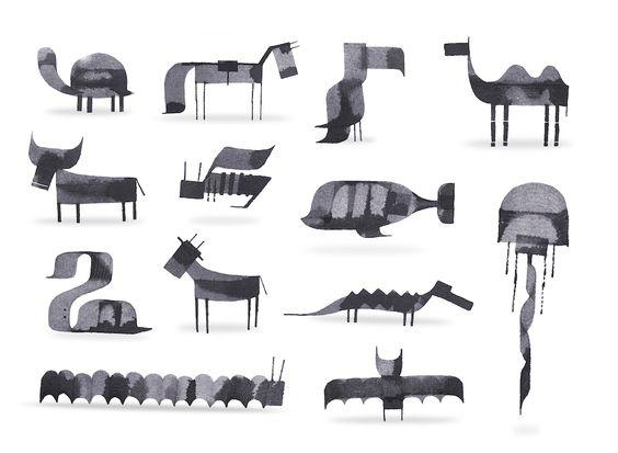 Calligraphy Animals - 7
