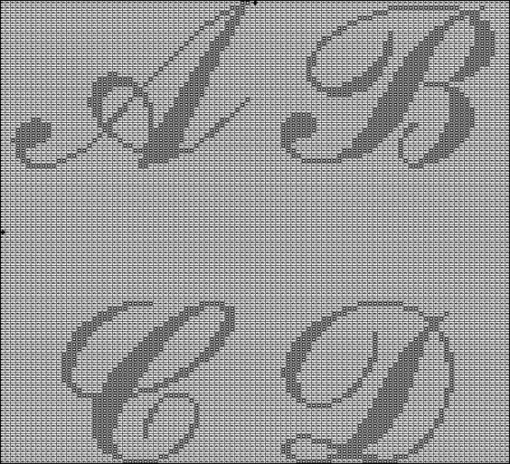 Knitting Cursive Letters : Filet crochet patterns and on pinterest
