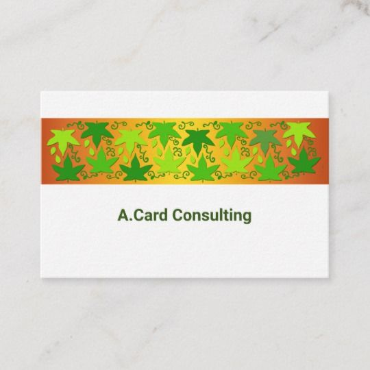 Business Cards For Ecology And The Environment Zazzle Co Uk