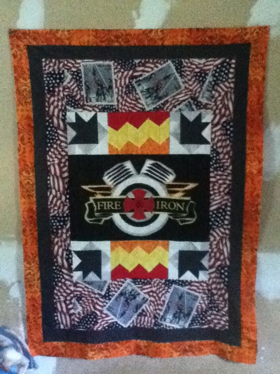 Quilt made as a gift to a Fire and Iron station