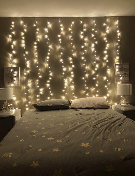 What Is Egyptian Cotton Fairy Lights Bedroom Aesthetic Bedroom Bedroom Lighting