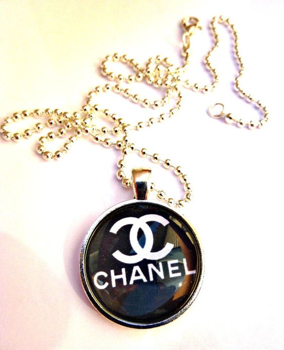 Chanel necklace Black & white 1 silver metal by Mckeejewelrybeads, $8.95