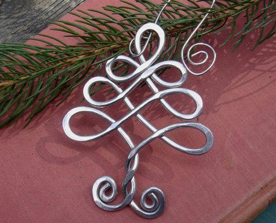 Celtic Tree Aluminum Ornament  Christmas by nicholasandfelice, $ 15.00: Wire Ornament, Celtic Tree, Holiday Ornaments, Christmas Ornaments, Christmas Trees, Christmas Tree Ornaments