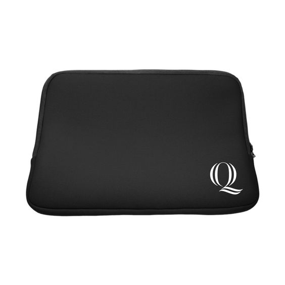 "Quinnipiac University V2 Black Laptop Sleeve, Classic V1 - 13"""