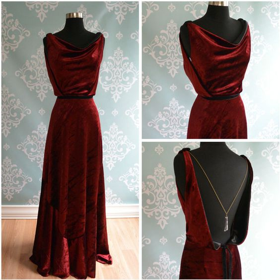 Long dress velvet art