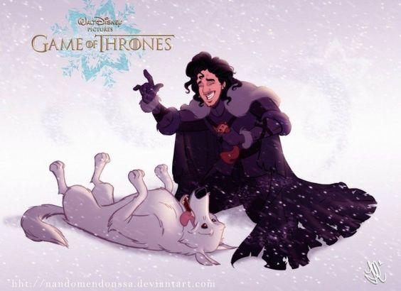 Jon Snow e Ghost by Walt Disney