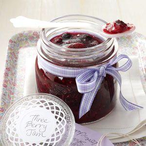 Three-Berry Jam Recipe | Taste of Home Recipes