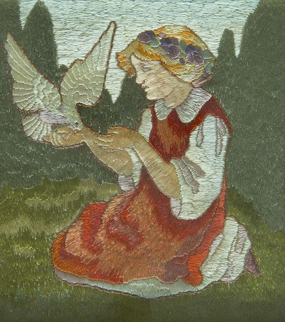 A Scottish school Arts and Crafts Embroidery