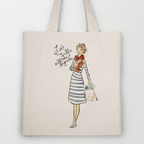 French Girl Grocery Tote