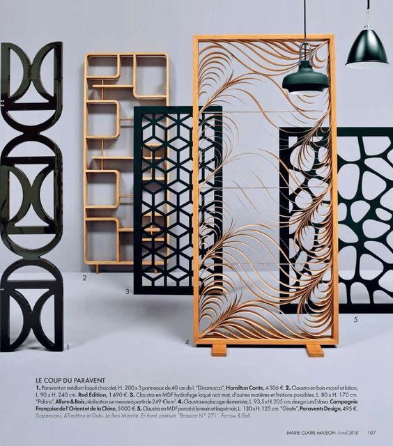 les paravents et claustras en bois pour votre int rieur cloison de s paration pinterest. Black Bedroom Furniture Sets. Home Design Ideas