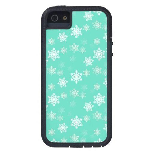 Tiffany Aqua Blue Snow Flurries iPhone 5/5S Case