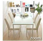 ガラスダイニング5点セットの通販|北欧インテリア・家具ならエアリゾームインテリア本店
