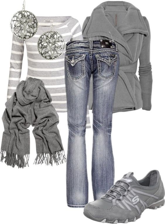 """""""Grey day -MandyS120"""" by mandys120 on Polyvore #fashion - combination #womenswear #accessories"""