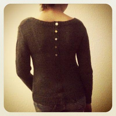 von mri: Refashion: resize pullover with a faux button facing. Pullover enger durch falsche Knopfleiste. tutorial