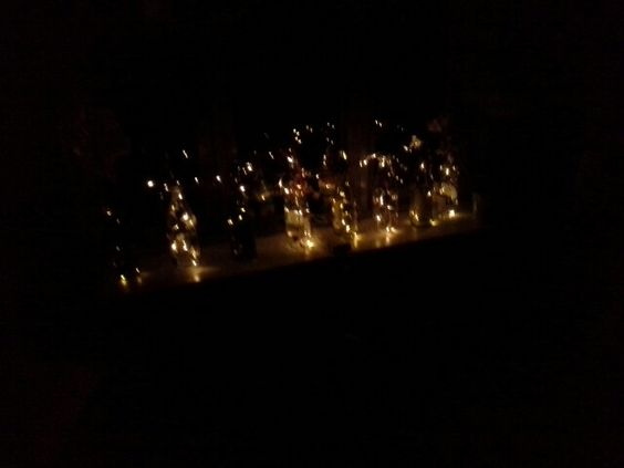 Mit vindue om natten