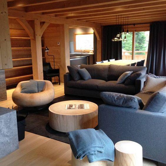 Chalet La Clusaz décoration prestige luxe montagne