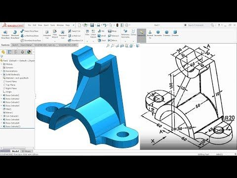 Solidworks Tutorial For Beginners Exercise 5 Solidworks Tutorial