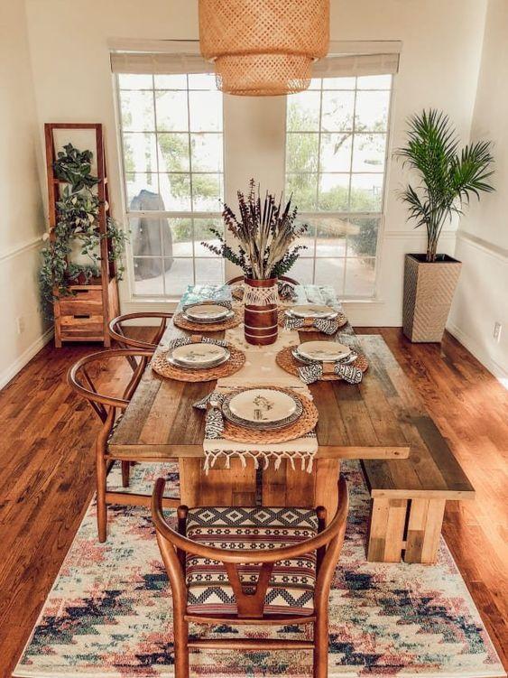 27 Charming Boho Dining Room Design Ideas Molitsy Blog Home Decor Dining Room Design Dining Room Decor