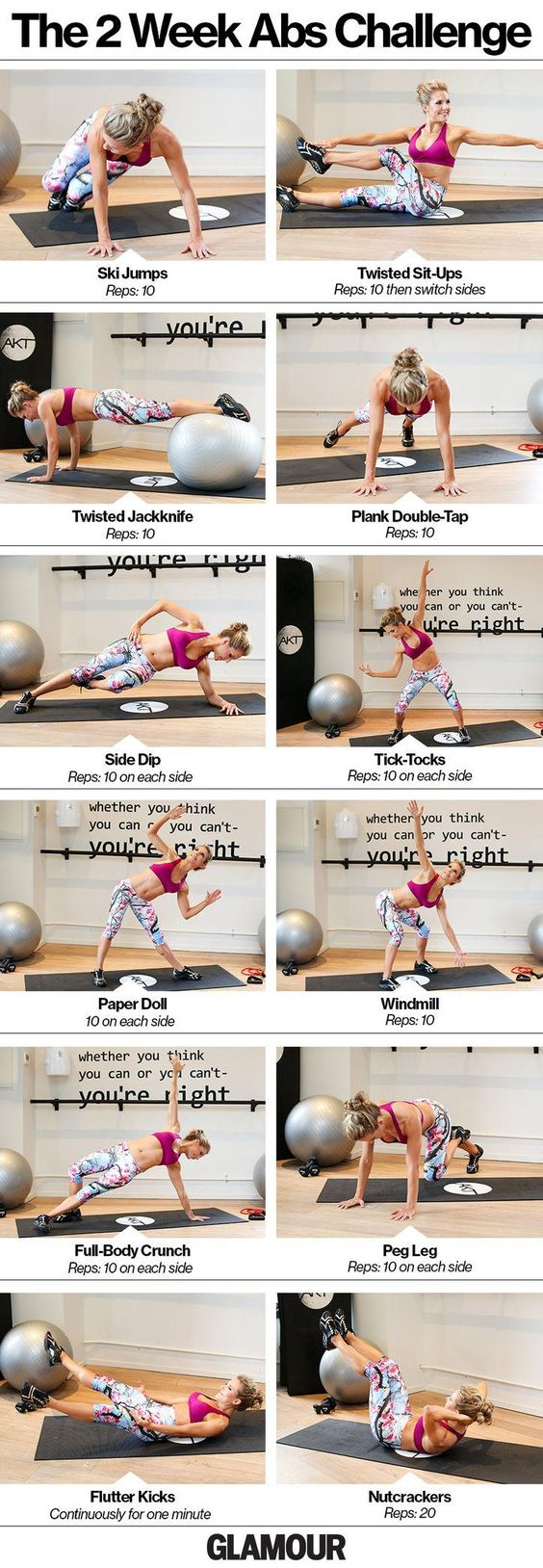 Take our ab challenge! We love these exercises for getting a strong core.