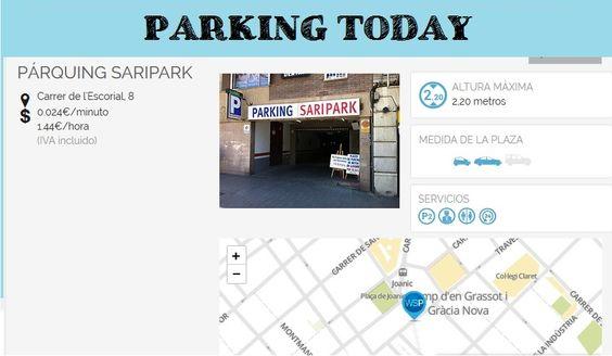 #wesmartPark #parking - PARKING SARIPARK - Ubicación: Carrer del Escorial 8. Únete a la #parkvolucion y a la economía colaborativa!