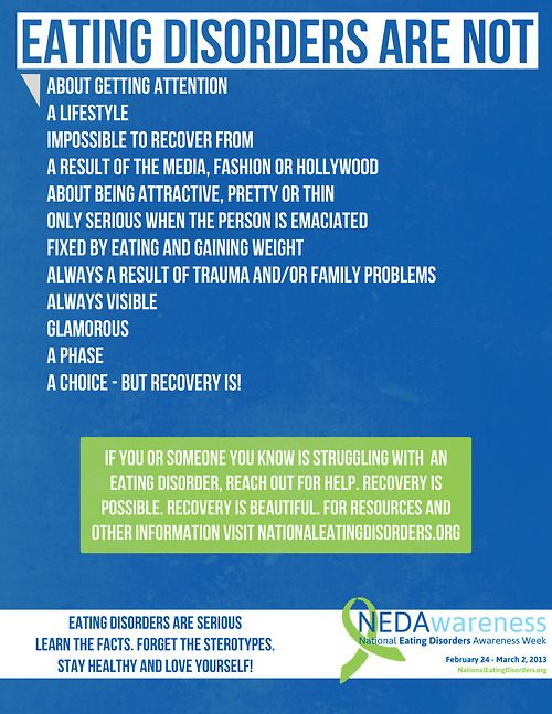 Becoming a counselor for people with eating disorders?