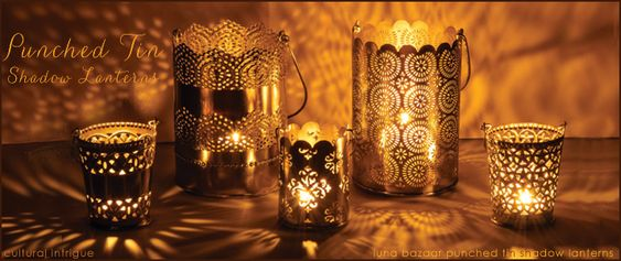 Hallows eve, Tin candles and Reception table on Pinterest