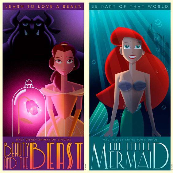 Pôsteres de filmes Disney em Art Déco   Just Lia                                                                                                                                                     Mais