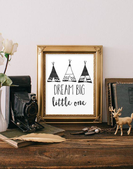 Traum Big Little One Print Kinder Wand Kunst von LilypadPrintables