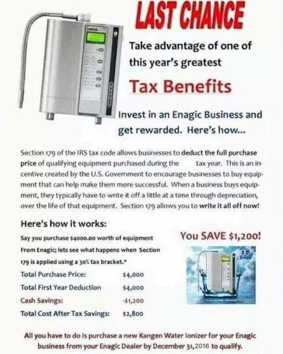 There's still time... You can claim this as a business expense or as a medical expense... #in http://tcpros.co/ZTogw