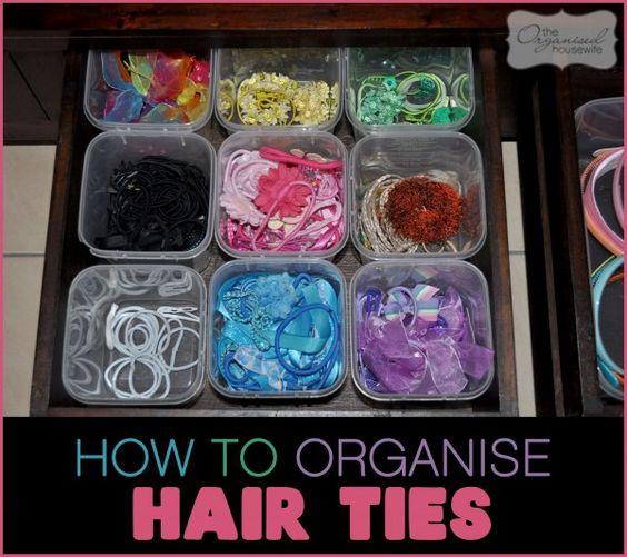 {The Organised Housewife} Organising hair tie tips