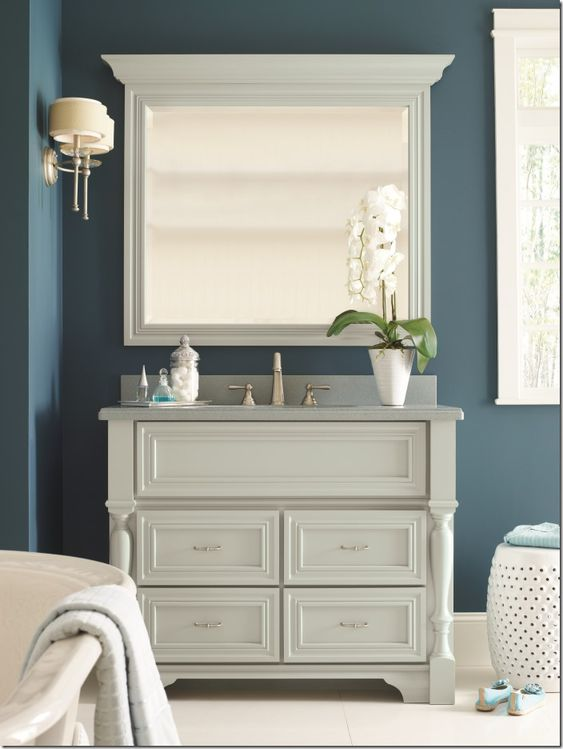 cabinets bathroom search love it bath cabinets blue mirror bath